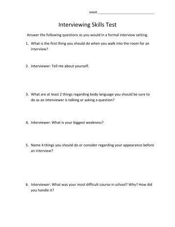 Berlitz test of speaking skills.