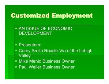 Corey Smith-Employment