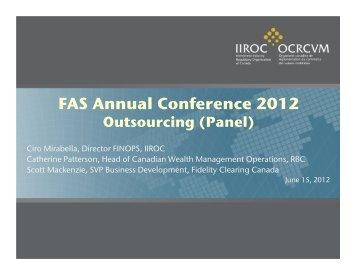 Ciro Mirabella, Director, Financial & Operations Compliance, IIROC ...