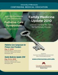 Family Medicine Update 2010 - University of Minnesota Continuing ...