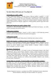 novinky duben 2012 - Rodinné Integrační Centrum os