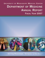 Fiscal Year 2007 - Department of Medicine - University of ...