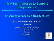 New Technologies to Support Independence - SPARC - Strategic ...