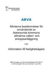 Allmänna bestämmelser för användande av Askersunds kommuns ...