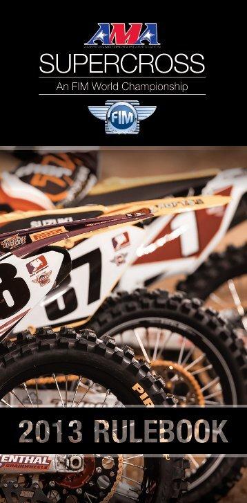 2013 AMA Supercross an FIM World Championship Rulebook