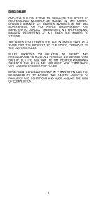 2013 AMA Supercross an FIM World Championship Rulebook - Page 4