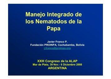 Manejo Integrado de los Nematodos de la Papa