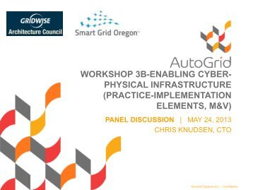 Presentation - GridWise® Architecture Council