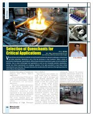 Selection of Quenchants for Critical Applications - Metalworld.co.in