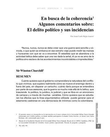 El delito político y sus incidencias - Inicio - UMNG