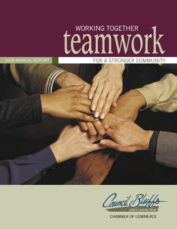 Teamwork - Council Bluffs Area Chamber of Commerce
