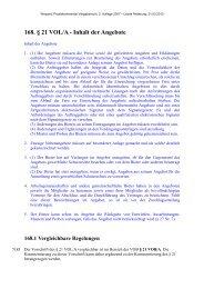 168. § 21 VOL/A - Inhalt der Angebote - Oeffentliche Auftraege