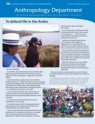 2012-2013 Newsletter - the Department of Anthropology - California ...