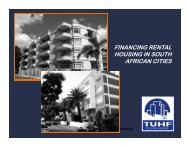 Finance for subsidy and affordable rental housing - Shisaka ...
