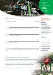 Outdoor Fitness Equipment Check Lists - Wicksteed Leisure Limited