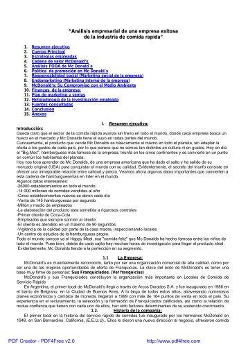 """""""Análisis empresarial de una empresa exitosa de la ... - Biblioteca"""