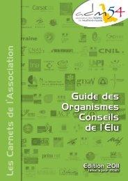 Guide des Organismes Conseils de l'élu - Association des maires