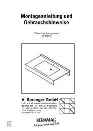 Montageanleitung Waschtischmodell JERICO - Varicor