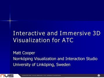 Interactive and Immersive 3D Visualization for ATC - ATM Seminar