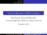 3-body problem near a Feshbach resonance