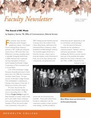 Faculty Newsletter - Brooklyn College - CUNY