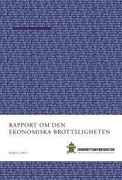 rapport om den ekonomiska brottsligheten - Ekobrottsmyndigheten