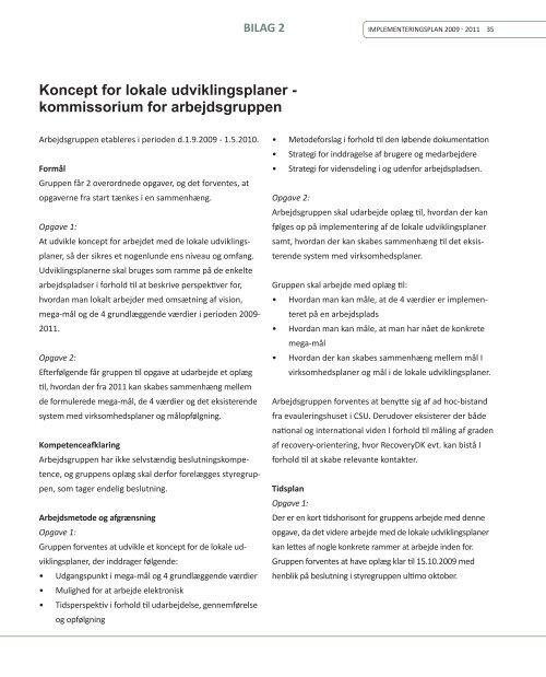 Styrket Recovery-orientering Plan for fortsat ... - Aarhus.dk
