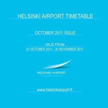 HELSINKI AIRPORT TIMETABLE - Helsinki-Vantaa