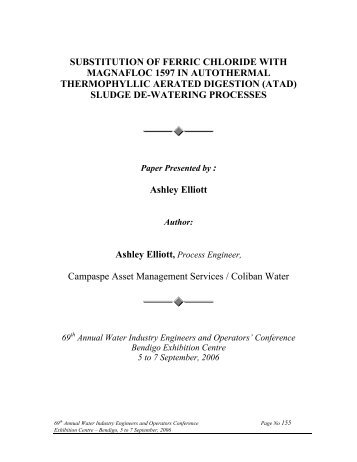 SUBSTITUTION OF FERRIC CHLORIDE WITH ... - WIOA