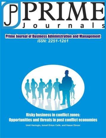 Umit et al..pdf - Prime Journals
