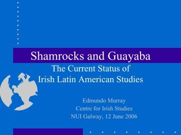 1 - Society for Irish Latin American Studies
