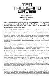PRESS RELEASE - TEN THOUSAND WAVES Isaac Julien