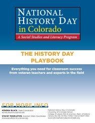 History Day Playbook - University of Colorado Denver