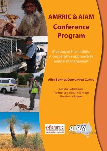 AMRRIC-AIAM Program.pdf - Australian Institute of Animal ...