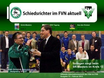 Schiedsrichter im FVN aktuell Solingen siegt beim SR-Masters im ...