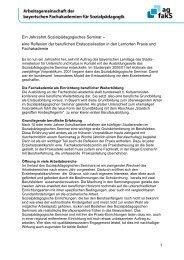 Lesen sie weiter - Arbeitsgemeinschaft bayerischer Fachakademien