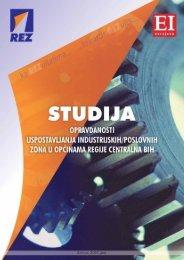 studija opravdanosti uspostavljanja industrijskih/poslovnih ... - REZ