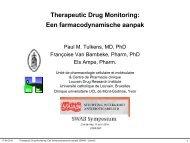 Therapeutic Drug Monitoring: Een farmacodynamische aanpak - UCL