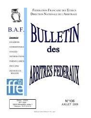 BAF 106 - Fédération Française des Échecs