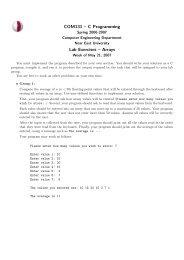 COM131 – C Programming Lab Exercises – Arrays