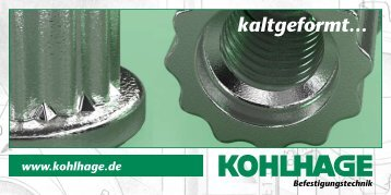 Kim® in mould inserts - KOHLHAGE Fasteners