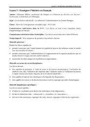 Leçon 3 : Enseigner l'histoire en français