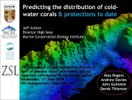 water corals & protections to date - The Deep Sea Conservation ...