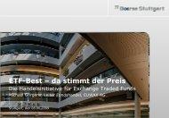 ETF-Best – da stimmt der Preis
