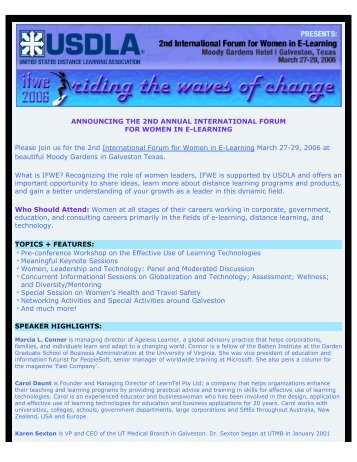 ANNOUNCING THE 2ND ANNUAL INTERNATIONAL FORUM FOR ...