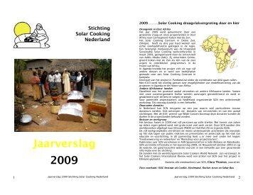 Jaarverslag 2009 - Solar Cooking