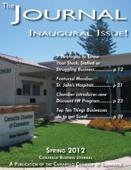 Spring 2012 - Camarillo Chamber of Commerce
