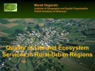 Quality of Life and Ecosystem Services in Rural-Urban ... - spa-ce.net