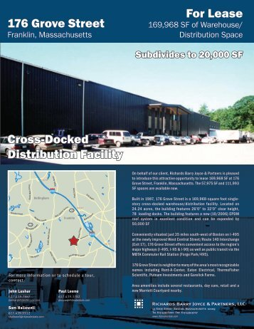For Lease 176 Grove Street Cross-Docked Distribution ... - MassEcon
