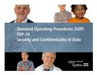 Standard Operating Procedures - SOP-26